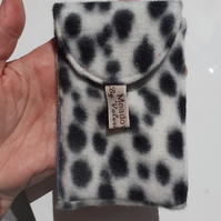 Black and white pouch for handbag
