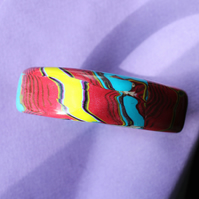 Abstract Pattern in Precious Colours - Designer Bangle - Handmade - Unique