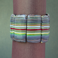 Modern Craft Post Industrial Style Designer Bracelet - Lovely Stripes!.