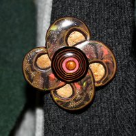 Crafted Brooch - Celtic Style Medallion Pin Badge - Modern Artisan