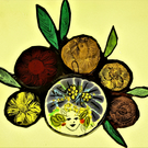 Contemporary Stained Glass - Darling Bud with Carnival Hair