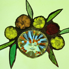 Contemporary Stained Glass - Darling Bud with Happy Smile