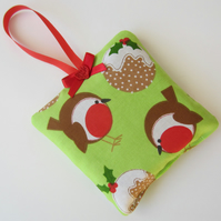 SALE Christmas Robin Lavender Bag