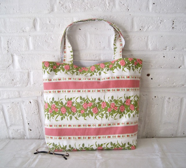 Handmade Recycled French Flowers Bag