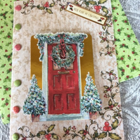 Christmas Card Decoupage Festive Front Door
