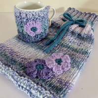 Hot Water Bottle Cover & Mug Cosy Set