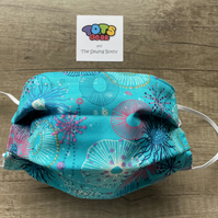 """Turquoise """"reef"""" Face Mask"""