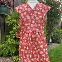 Red Snowflake Dress - 7 years
