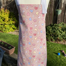 Child's Reversible Apron with Hearts - Medium (6-12 years approx)