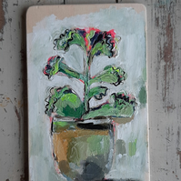 Small still life house plant painting