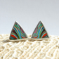 Triangular surfite stud earrings