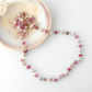 Dainty pink pearl and sapphire necklace