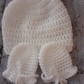 Handmade Crochet Baby Hat & Scratch Mitts Set