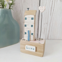 Little House with Clay Heart 'Love'