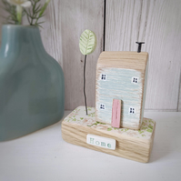 Little House with Clay Tree 'Home'