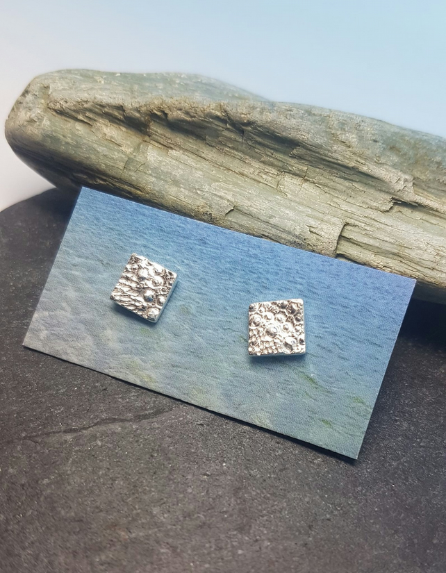 Sea Urchin Square Studs