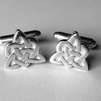 Celtic heart cufflinks