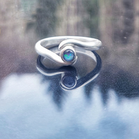 Opal wrap over ring T