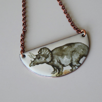 Triceratops bib necklace