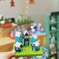 Ceramic Winter Houses