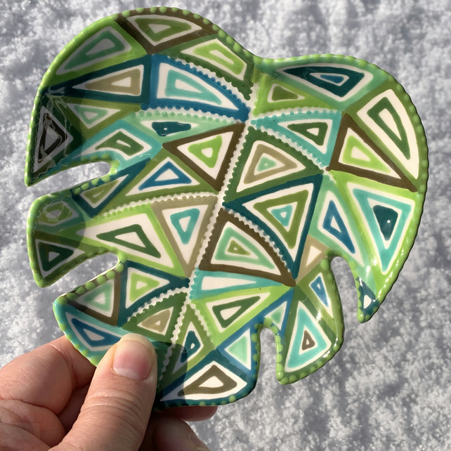 Ceramic Monstera Leaf Dish