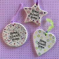 SALE 'Home Sweet Home' Ceramic Hanger