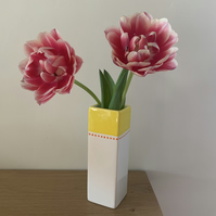 Ceramic Square Bud Vase