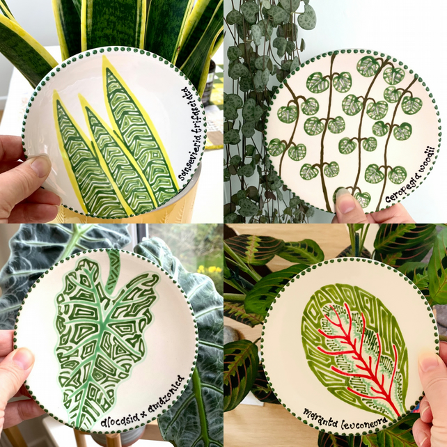 Hand Painted Botanical Mini Plate
