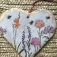 Double sided slate heart Memories of summer
