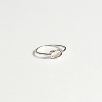 Knot ring, eco silver knot ring