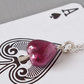 Ace of Spades Unisex Amethyst Murano Glass and Sterling Silver Pendant on Chain