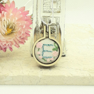 Hand embroidered mini hoop necklace personalised with the letter E