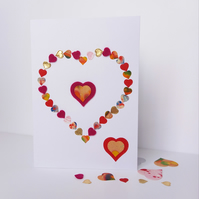 Mini hearts big heart valentine's day card