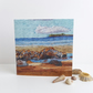 Low tide at broad haven beach printed card of original art work 6 x 6inches