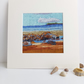 Low tide at Broad haven print with mount of original artwork 6 x 6 inches