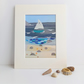 Print of original embroidery sailing boat GP 5 x 7 inches