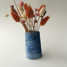 Sea Blue Stoneware Vase