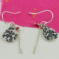 Meadow print earrings