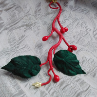 Christmas Decoration in Vintage Red and Green