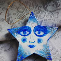 Star Decoration in Blue and White