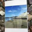 Springtime Charmouth! Photographic Blank Greetings Card for All Occasions.