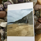 Winter at Charmouth! Photographic Blank Greetings Card for All Occasions.