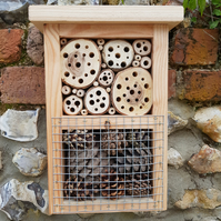 'The Buggalow' bug house, bee shelter, insect hotel, mini mansion bb30