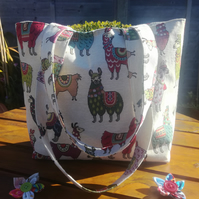 Bag. Tote. Alpacas. Llamas. Craft Bag