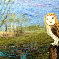 Needle-Felting Book Cover Kit (Owl)