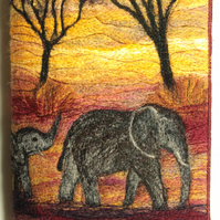 Needle-Felting Book Cover Kit (Elephants)