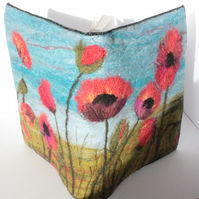 Needle-Felting Book Cover Kit (Poppies)