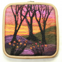 Quick Kit Needle-Felting Kit (Sunset in the Woods)