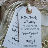 Whoop! Whoop! Family and Friend Let's Party Celebration Personalized Fun Favour