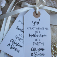 Yay! Let's Party Celebration Together Again Wedding Party Fun Favours